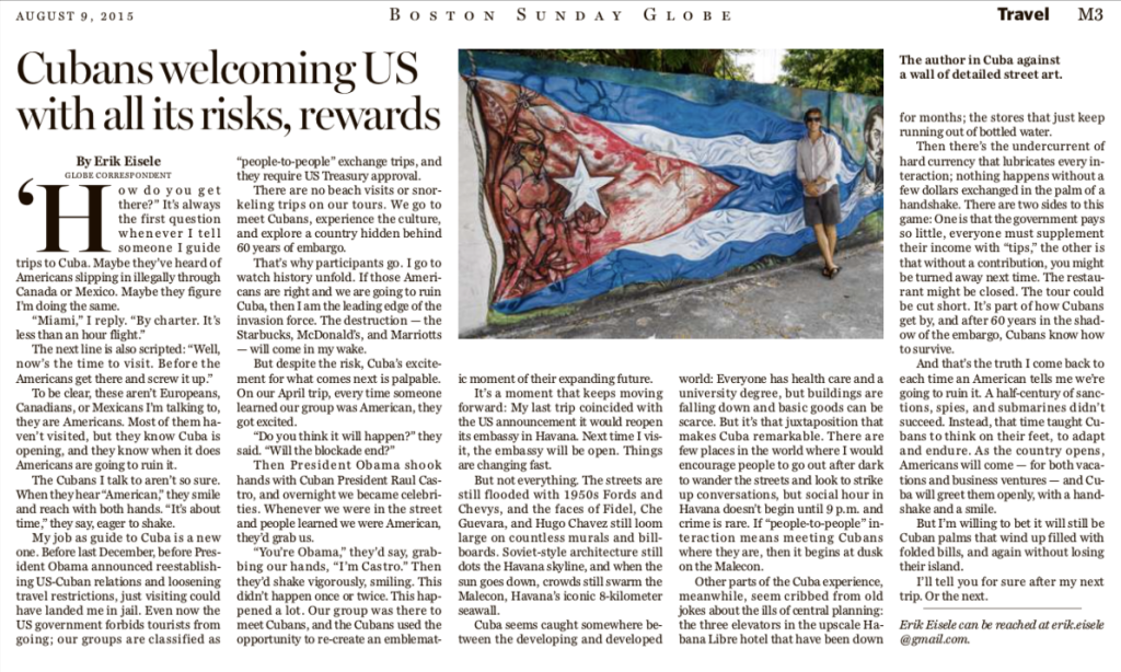 Boston Globe Cuba piece